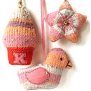 Fair Isle Decorations Knitting Kit