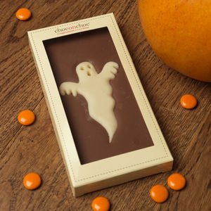 Chocolate Ghost Bar - halloween party food and decorations