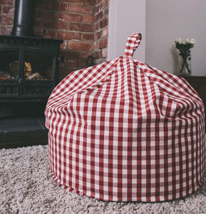 Gingham Beanbag - furniture