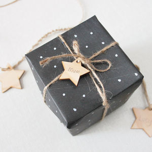 Wooden Star Gift Tag Set