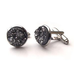 Resin Rhinestone Cufflinks - men's jewellery