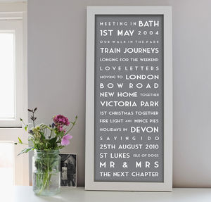 Personalised Best Memories Print - anniversary prints