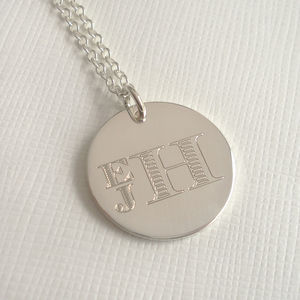 Men's Engraved Monogram Stacked Necklace - necklaces