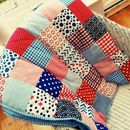 red blue quilt