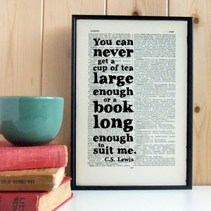 'Tea And Books' Book Lover Gift