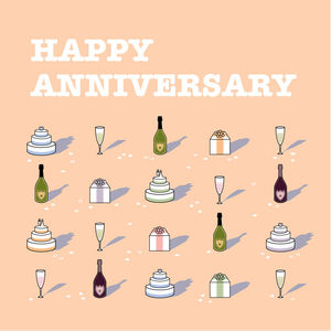 'Happy Anniversary' Card - anniversary cards