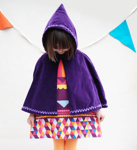 Purple Frozen Anna Cape - fancy dress
