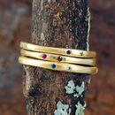Stones: Blue Sapphire & Peridot And Ruby & Garnet