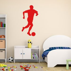 Footballer Vinyl Wall Sticker - wall stickers