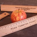 Personalised Teachers Gift Engraved Oak Ruler