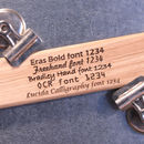 Personalised Teachers Gift Engraved Oak Ruler