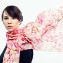 Africa Sunset silk scarf long 160cm x 45cm