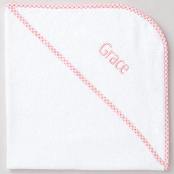 Personalised Pink Luxury Hooded Towel