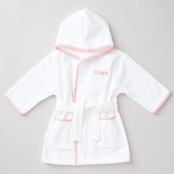Personalised Cotton Baby Girl's Robe