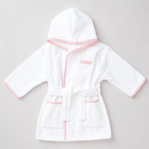 Personalised Cotton Baby Girl's Robe - clothing