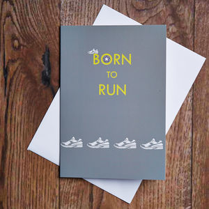 Born To Run Card