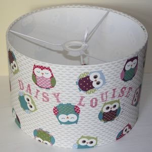 Owl Lampshade - children's lighting