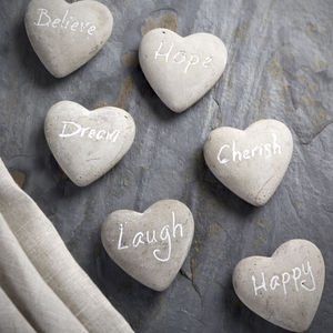 Sentiment Stone Hearts