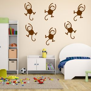 Monkeys Childrens Wall Stickers - wall stickers
