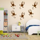 Monkeys Childrens Wall Stickers