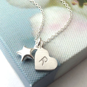 Personalised Heart And Star Necklace - necklaces & pendants