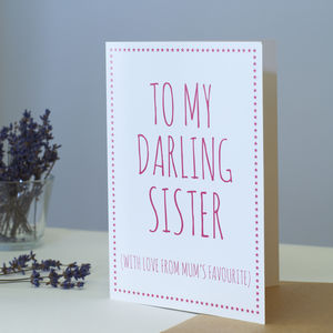 Darling Sister Card - christmas cards sent direct