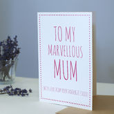 Mum's Favourite Child Card