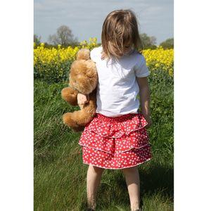 Flower Print Layered Skirt