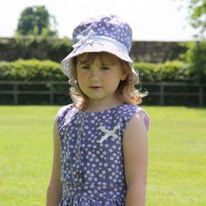 Reversible Print Floral Sun Hat - clothing