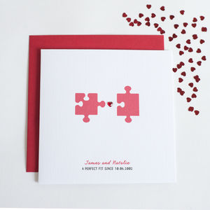 Personalised Perfect Fit Anniversary Card - anniversary cards