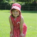 Red Floral Sun Hat Reversible