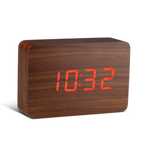 Rechargeable Brick Walnut Click Clock