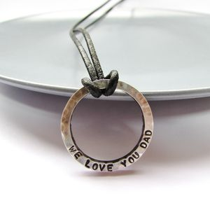 Personalised Daddy Necklace - men's jewellery