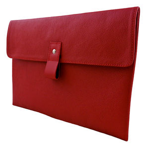 Red Leather 11 Inch Macbook Air Case - laptop bags & cases