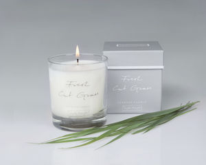 Fresh Cut Grass Scented Candle In A Glass