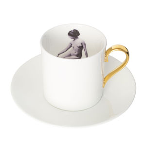 The Girl Inside Espresso Cup And Saucer - cups & saucers