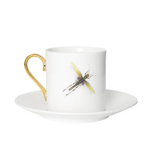 Dragonflies Espresso Cup And Saucer - tableware