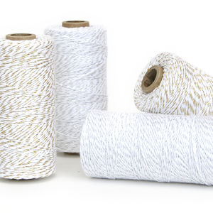 Gold And Silver Glitter Twine - ribbon & wrap