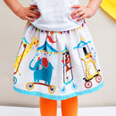 Girls Circus Print Party Skirt