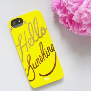 Hello Sunshine Case For iPhone Five 5S - women's accessories
