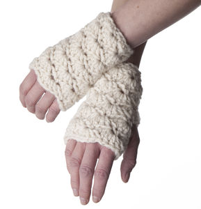 Shell Crochet Mittens - hats, scarves & gloves