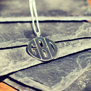 Personalised Men's Monogram Necklace - necklaces