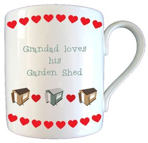 Personalised Garden Shed Fathers Day Mug