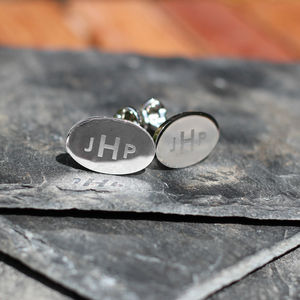 Silver Personalised Alphabet Cufflinks