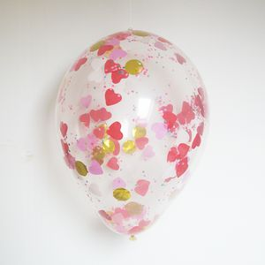 Giant Bright Heart Confetti Balloon - room decorations