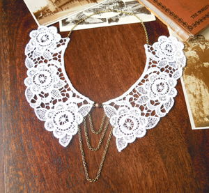 Lace Peter Pan Collar Necklace - necklaces & pendants