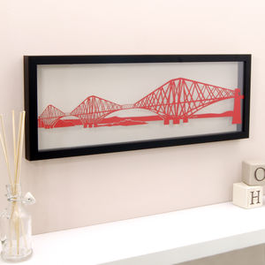 Forth Rail Bridge Papercut Wall Art - architecture & buildings