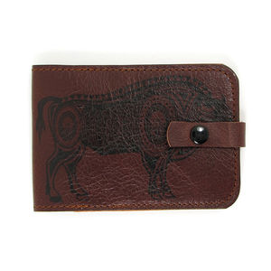 Bison Leather Card Case - passport & travel card holders