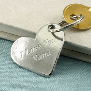 Love You Nana/Nanny Heart Keyring
