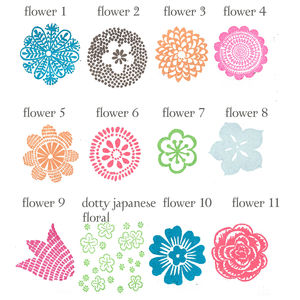Flower Rubber Stamps - stamps & ink pads
